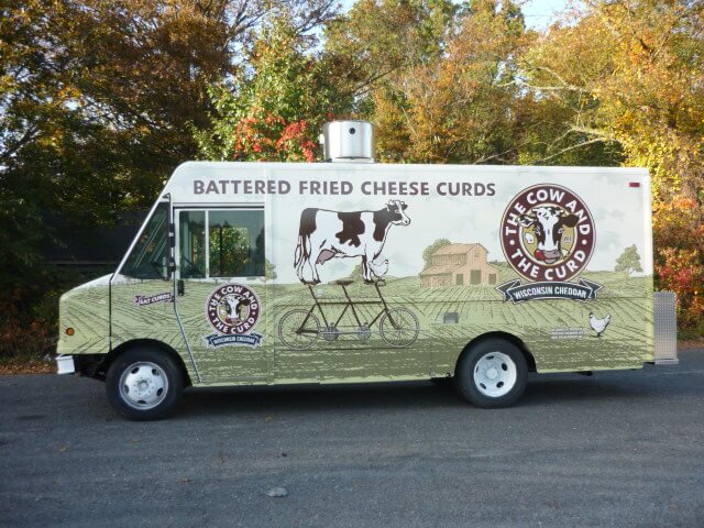 Battered fried cheese curds truck
